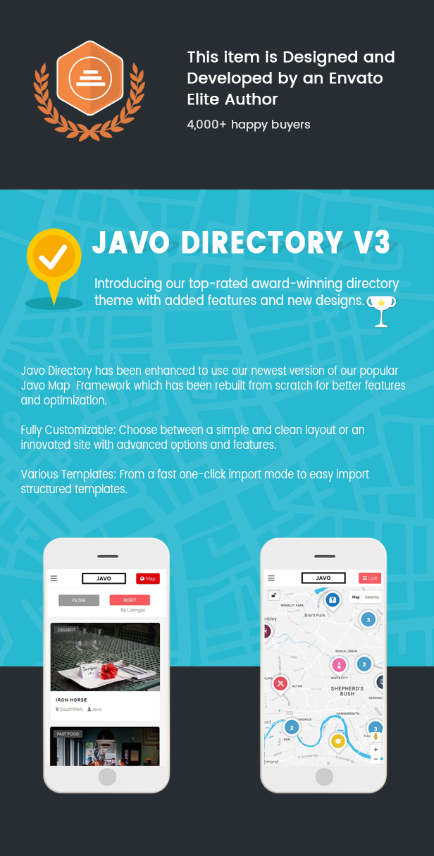 javo directory city guide event review wordpress theme